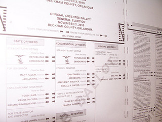 2010 Oklahoma General Election Ballot
